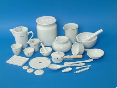 Material de porcelana para laboratorio